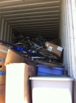 Packed to the gills with donated bikes & parts