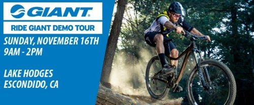 Giant Demo Tour, Nov. 16th at Lake Hodges