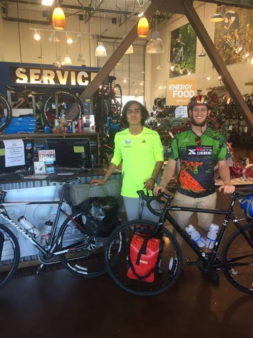 Yoaquin and Esteban are riding from San Diego to Mexico City